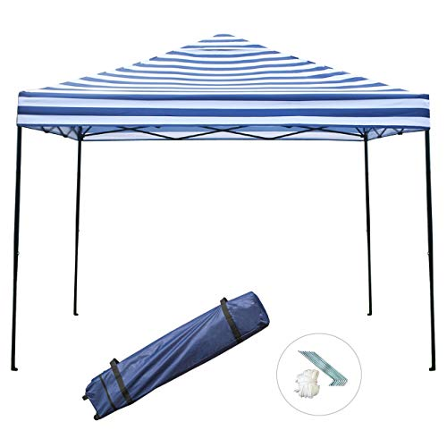 Sunnyglade 10x10 Pop Up Canopy Tent Commercial Instant Tents Market Stall Portable Shade Instant Folding Canopy With Roller Bag Blue And White Buy Products Online With Ubuy Philippines In Affordable Prices B07kxljqv9