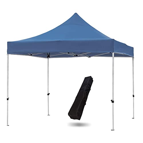 Snail Commercial Grade 10 X10 Outdoor Easy Pop Up Canopy Tent With Heavy Duty Aluminum Straight Leg And 420d Waterproof Top Portable Event Party Shade Shelter With Carry Bag Dark Blue Buy