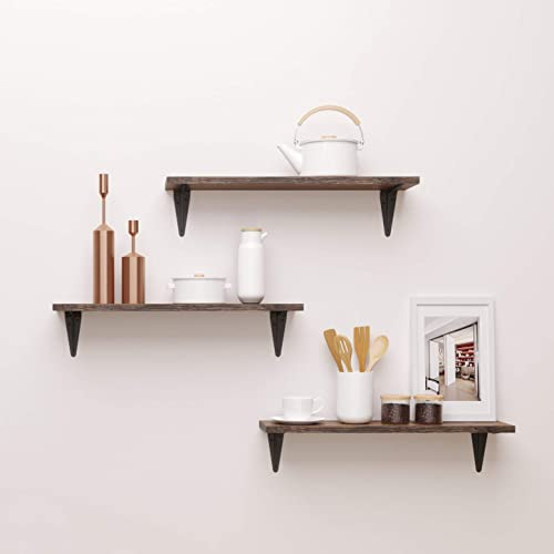 Bamfox Floating Shelves Wall Shelf Set Of 3 Wall Mounted Floating Shelf With Large Storage For Bedroom Bathroom Living Room Kitchen Office Buy Products Online With Ubuy Philippines In Affordable Prices B07q2j3n15
