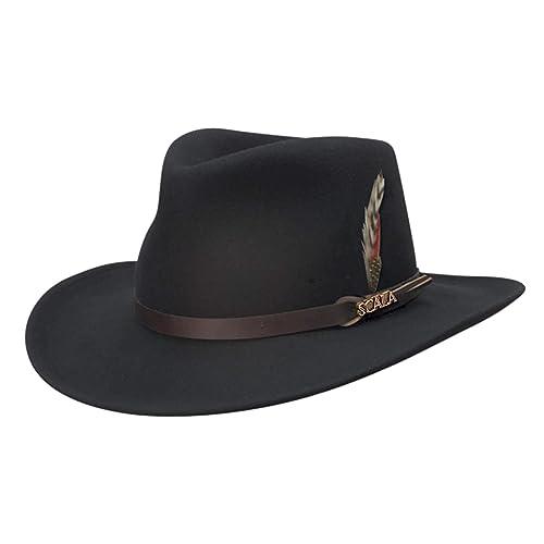 4446c842331de9 Buy Scala Classico Men's Crushable Felt Outback Hat with Ubuy ...