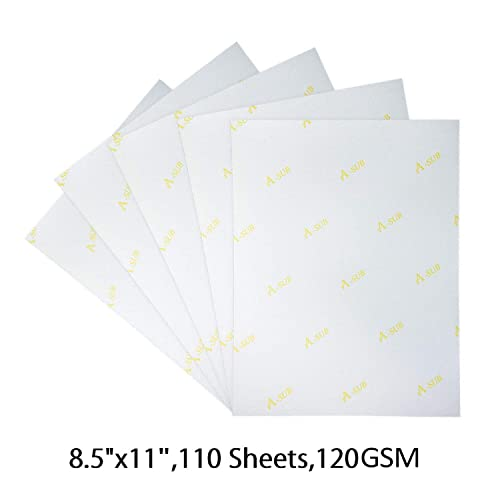 Buy A-SUB Inkjet Sublimation Paper 110 Sheets 8 5'' x 11