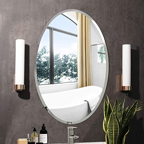 Beveled Polished Frameless Wall Mirror