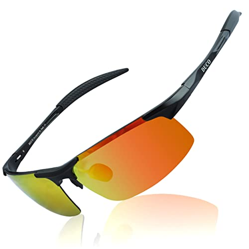 c2aed12d6a73 DUCO Mens Sports Polarized Sunglasses UV Protection Sunglasses for Men 8177s