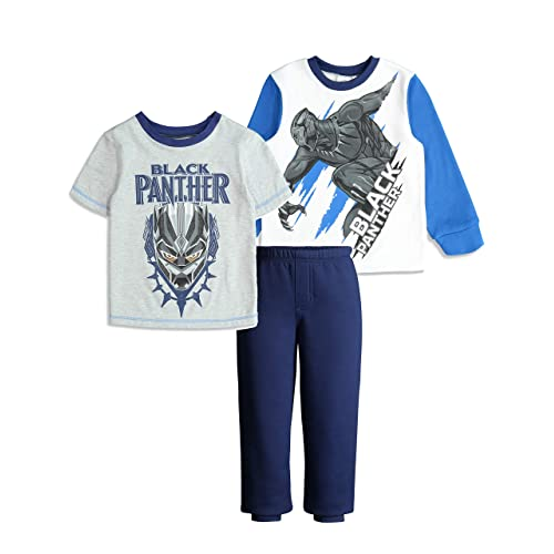 e587f1c4 Marvel Avengers Black Panther Boys' Fleece T-Shirt and Pants Clothing Set