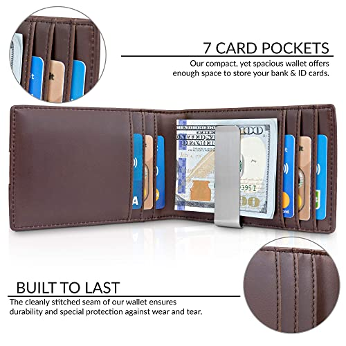 04379364c9e PrevNext. PrevNext. TRAVANDO Money Clip Wallet quot RIO quot  - Mens  Wallets slim Front Pocket RFID Blocking Card
