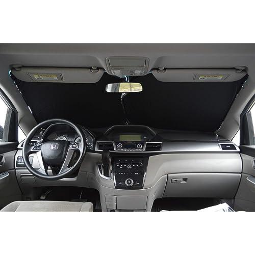 XS Windshield Sun Shade 240T-Premium-Fabric for Jeep Wrangler Rubicon Toyota Fj Cruiser