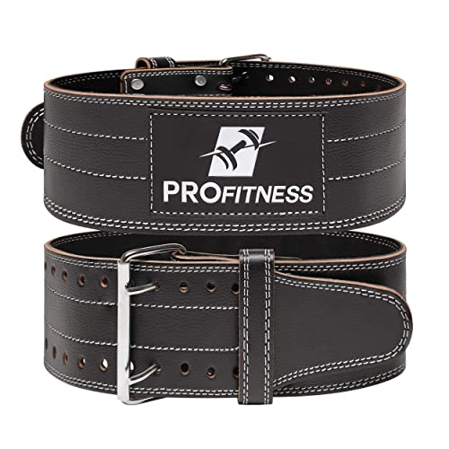 Buy ProFitness Genuine Leather Workout Belt (4 Inches Wide) - Proper Weight  Lifting Form - Lower Back Support for Squats, Deadlifts, Cross Training  Online in Philippines. B01HE1FX0E