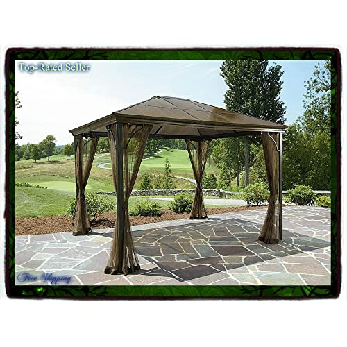 10 X 12 Hardtop Gazebo Metal Steel Roof