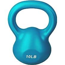 VOMSASN 10LB 15LB 20LB Kettlebell Weight Sets Strength Training Kettlebells for Home Gym PP Coated Kettle Bell Weight for Workouts Core Training