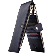 998d4862cb72 Travelambo Womens Walllet RFID Blocking Bifold Multi Card Case Wallet with  Zipper .